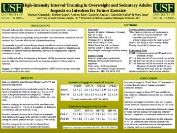 High-Intensity Interval Training & Intention for Future Exercise